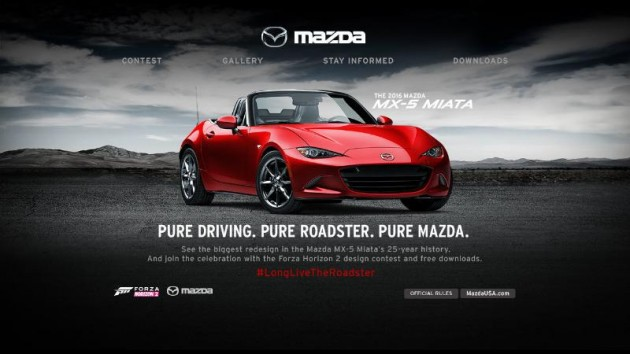 Mazda MX-5 and Xbox Contest Miata on Forza Horizon 2