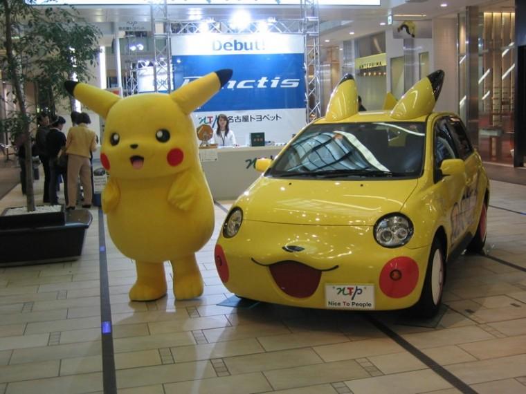 Pikachu Car Toyota