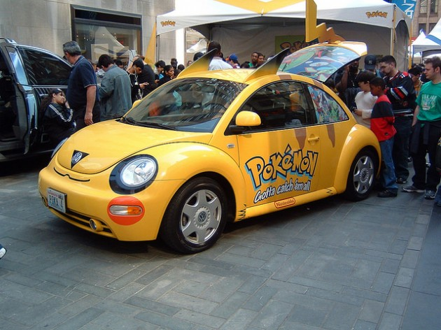 Pikachu Car Vw Beetle