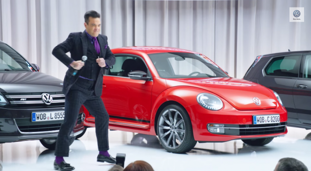 British Pop Star Robbie Williams is New Volkswagen Marketing Manager