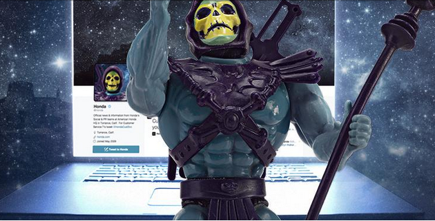 #Skeletakeover: Skeletor has taken over Honda's Twitter account and internet shenanigans have ensued