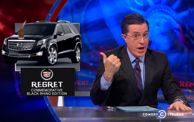 Stephen Colbert mocks oil war, low gas prices, and return of SUVs on last night's episode of The Colbert Report