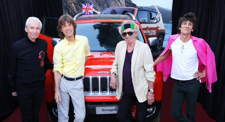 Rolling Stones-Autographed Jeep Renegade