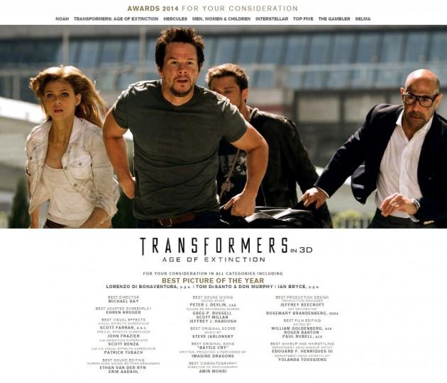 Michael Bay Wants an Oscar Nod for Transformers 4