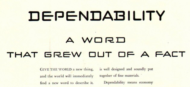 Dodge invented the word dependability