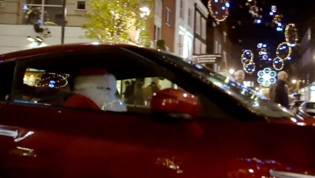 Santa in a GT-R