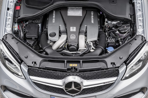 The Mercedes-AMG GLE63 Sport Coupe is a sporty SUV that's powered by an AMG 5.5-liter V8 biturbo engine which yields 577 horsepower and 561 pound-feet of torque
