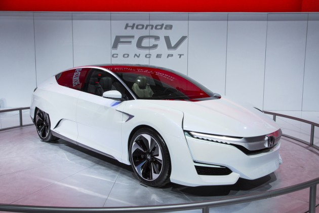 The Honda FCV Concept, which will anchor the Japanese automaker's booth at the 2015 Washington Auto Show this Friday