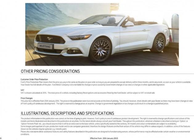 2015 Mustang UK brochure