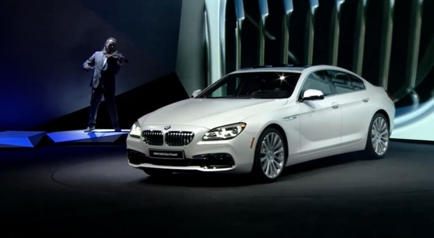 BMW debut Detroit M6 and 6-Series Unveiled white Gran Coupe