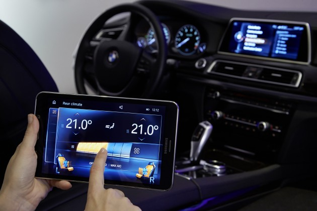 BMW's Connected Technology connected console tablet