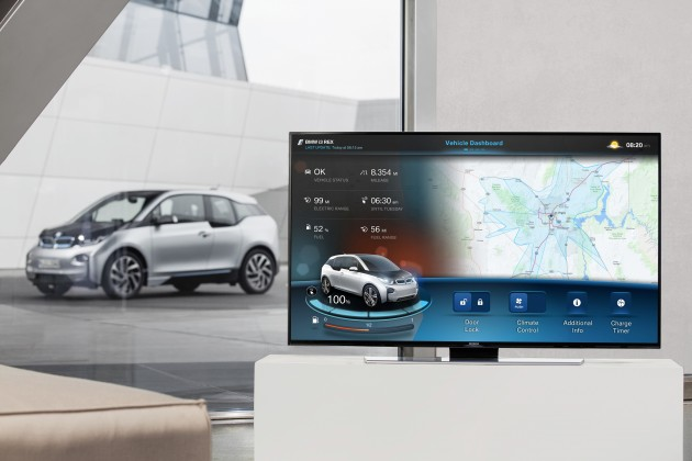 BMW's Connected Technology i Mobility TV app integration remote