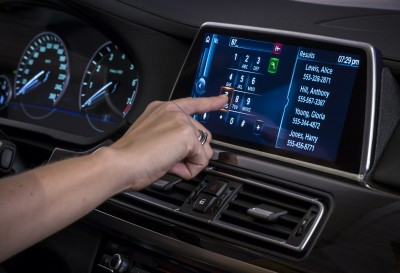 BMW's Connected Technology iDrive controller touch screen