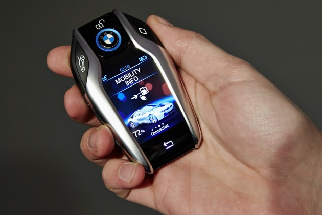 BMW's Connected Technology key fob with display