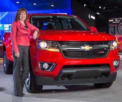 GM CEO Mary Barra and the 2015 Colorado