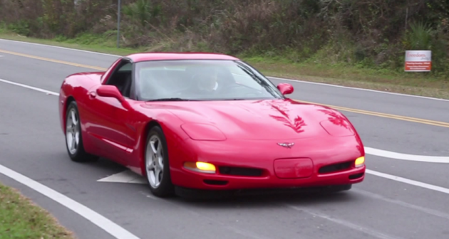 A 2000 Corvette C5 with nearly 650,000 miles on it