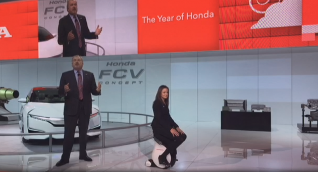 The ''Year of Honda'' display at the 2015 North American International Auto Show