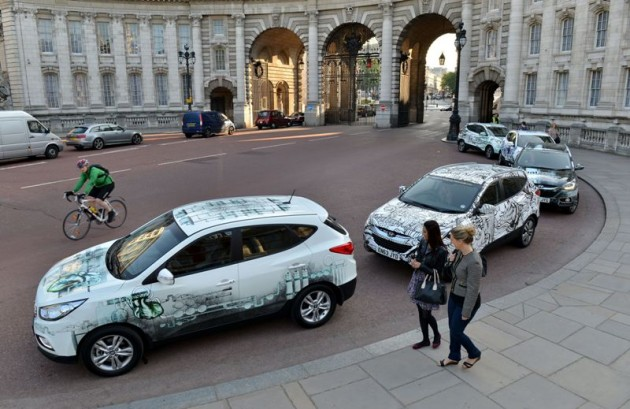 Hyundai Fuel Cell ix35 Headlining European Hydrogen Transportation Project HyTEC London College of Fashion