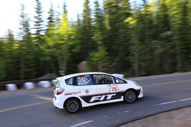 "A Honda Fit ""Races to the Clouds"" at the Broadmoor Pikes Peak International Hill Climb"