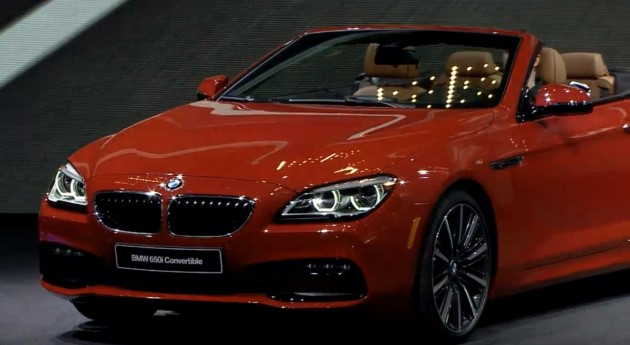 M6 and 6-Series Unveiled in Detroit red BMW 650i convertible