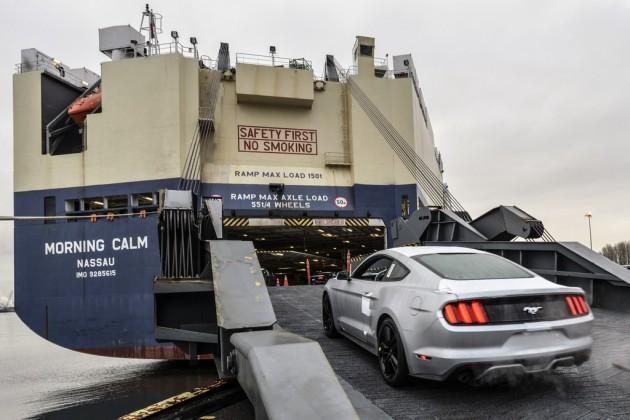 2015 Mustang export begins
