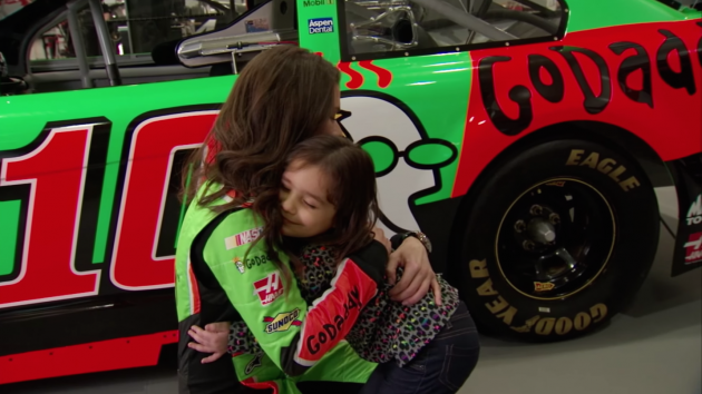 Still from the teaser video for Danica Patrick's Coke Super Bowl commercial