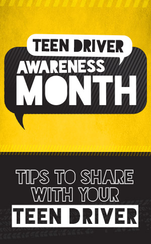 Teen Driver Awareness Month Infographic