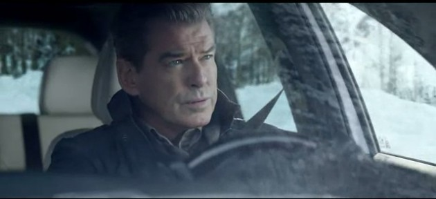Still from the new Kia Super Bowl Commercial With Pierce Brosnan