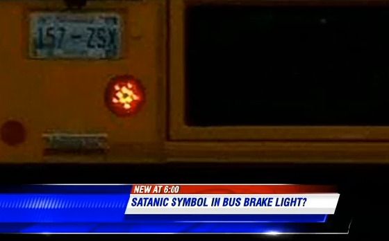 Dallas Car Show >> Supposedly Satanic School Bus Features Pentagram Brake