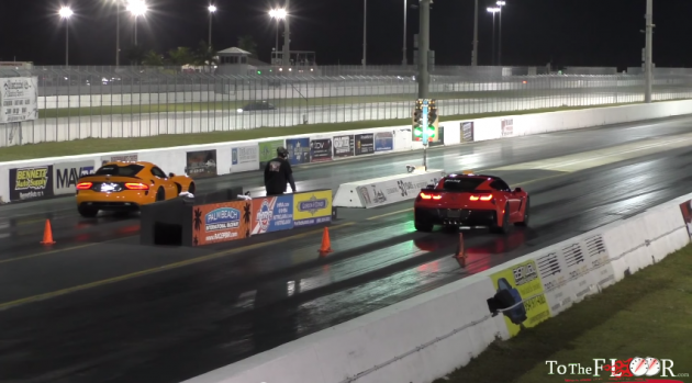 The Chevy Corvette Z06 vs Dodge Viper TA at the PBIR in Jupiter, Florida