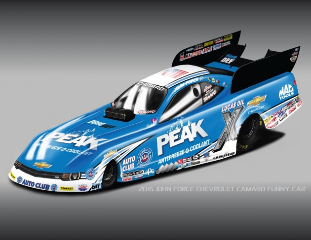 Chevrolet and John Force Racing, Inc have reunited