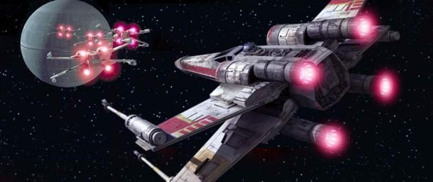 flying star wars car X-wing movie