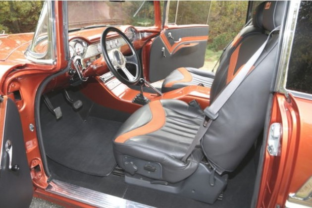 The interior of Dale Earnhardt Jr.'s custom 1955 Chevy Bel Air