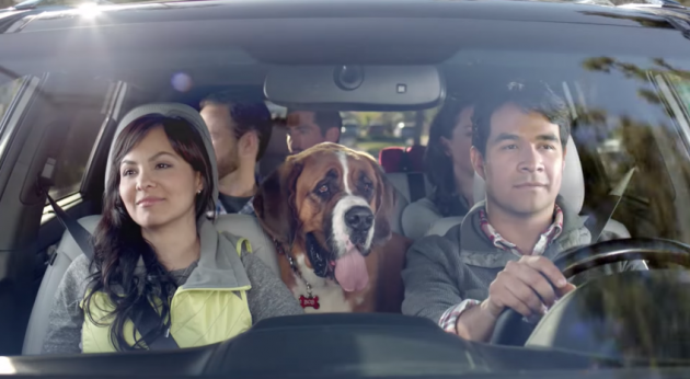 "Still from the 2015 Kia Sorento commercial ""What About Bob?"""