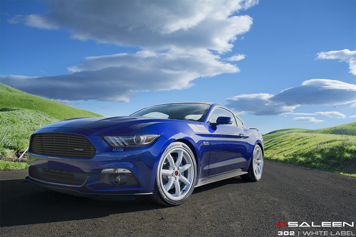 first 2015 saleen 302 mustang white labels shipping now the news wheel. Black Bedroom Furniture Sets. Home Design Ideas