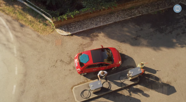 Still from the Fiat Super Bowl commercial for the 2016 500X