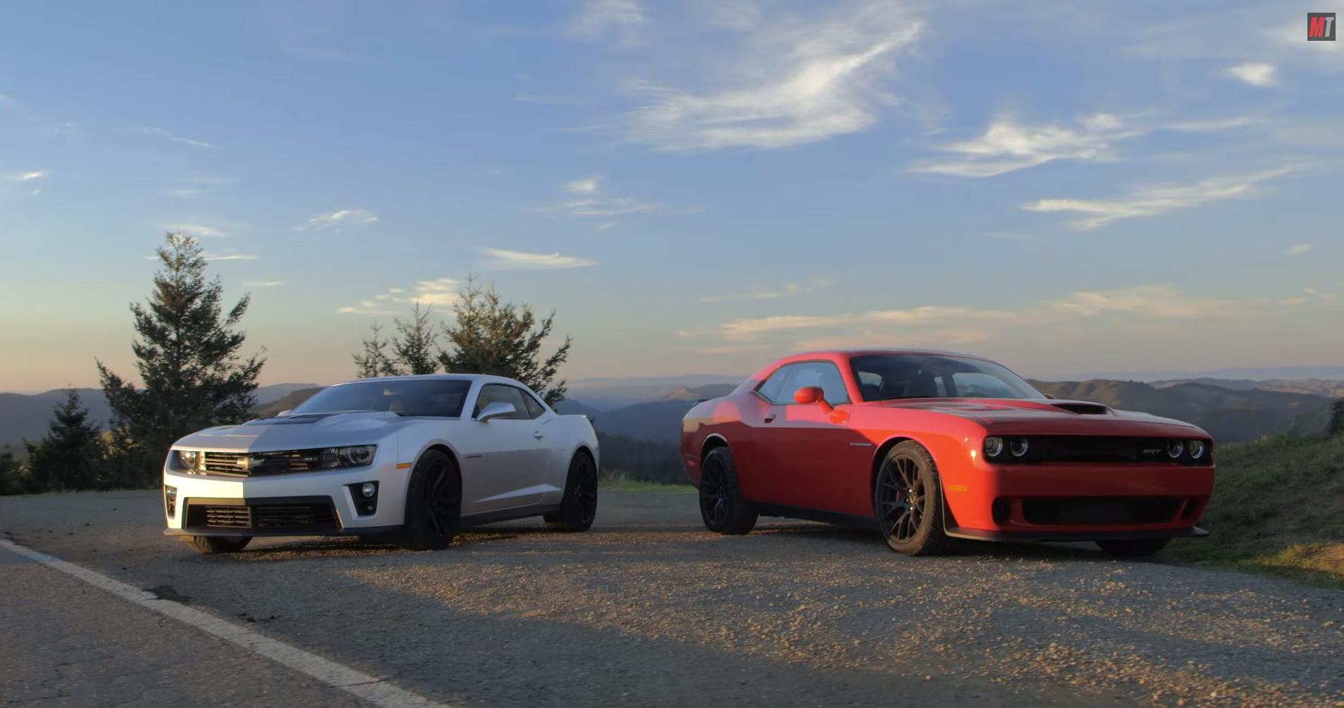 It's Chevy Camaro ZL1 vs Dodge Challenger Hellcat in New ...