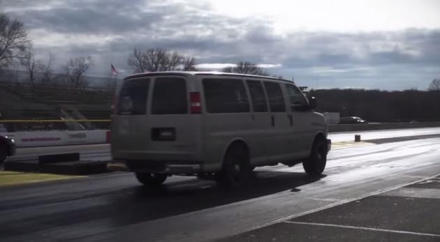 700 HP Chevy Passenger Van Takes On Corvette ZR1