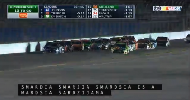 A drunken NASCAR closed captioning has fun with pitcher Jeff Samardzija's name