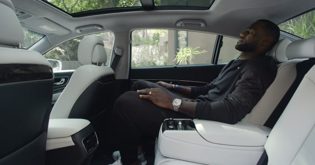 "Still from ""A Special Place,"" the newest LeBron James Kia K900 ad"