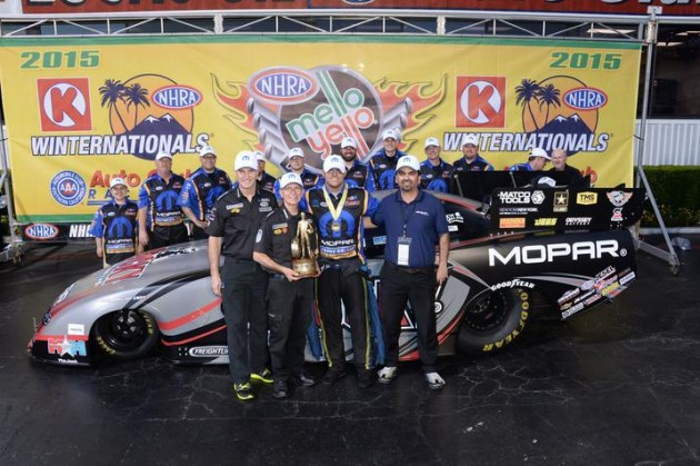Matt Hagan places first at All-Mopar NHRA Winternationals event
