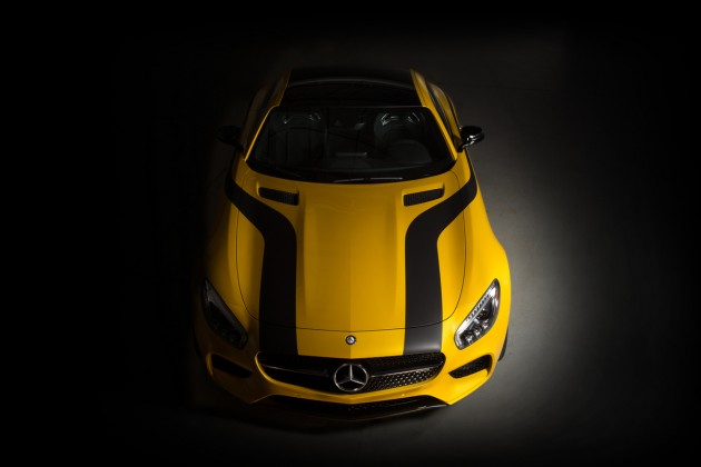 The 2016 Mercedes-AMG GT S and the Cigarette Racing 50 Marauder GT S Concept