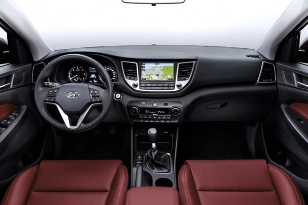 Revamped 2016 Hyundai Tucson Debut in Berlin Interior official