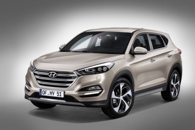 Revamped 2016 Hyundai Tucson Debut in Berlin front view official