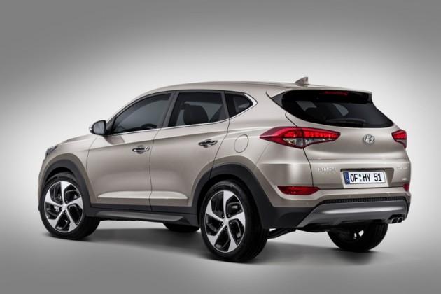 Revamped 2016 Hyundai Tucson Debut in Berlin rear end back official