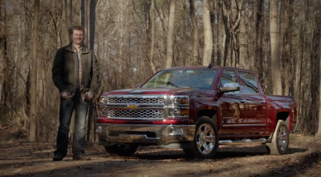 Dale Earnhardt Jr. and his 2015 Chevy Silverado 1500 star in a new ad
