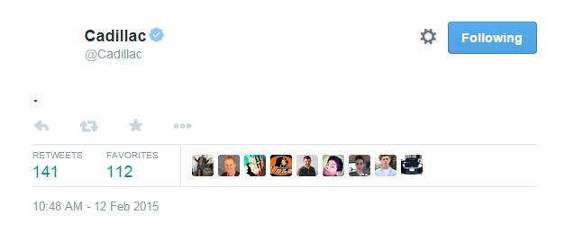 Cadillac Period Tweet