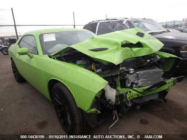 The very first wrecked Challenger SRT Hellcat is going to auction
