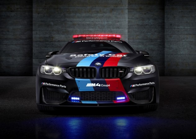 black BMW M4 MotoGP Safety Coupe front grille
