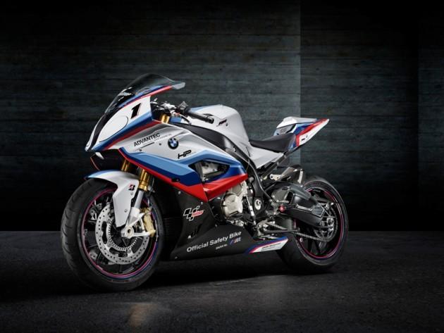 black BMW M4 MotoGP Safety Coupé motorcycle